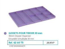 RIVE modul betét 626075 Kit godets tiroir 30 (5 assortis) F2