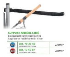 RIVE bottartó Support arriere feeder striée D25; D36