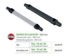 RIVE adapter Barre de liaison (non-Open) D36 390 mm - Alu; Noir