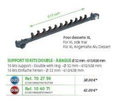 RIVE topset tartók Support 10 kits double a bague 32mm D25; D36