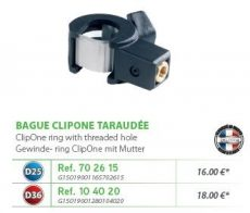 RIVE adapter Bague taraudée CLIP ONE D25; D36